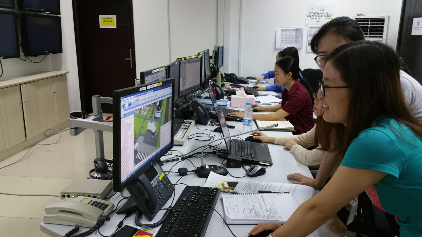 Chevron Sichuan Emergency Control room staff